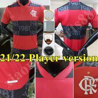 2021 2022 CR Flamengo Futbol Formaları Flaman 21 22 de Arrascaeta B.Henrique Gabriel B. Diego Oyuncu Versiyonu Flamenko Futbol Gömlek