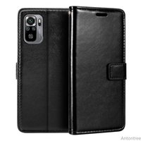 For Case Xiaomi Redmi Note 10 Flip Leather Wallet With Rope Cover Magnetic Closed Stand Phone Soft Back Casing