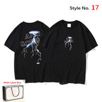 Tshirt pour hommes manches courtes à manches courtes de haute qualité Tshirt pur coton de coton de la lettre imprimé vêtement de style hip hop avec boîte à balises