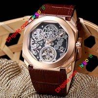 Moda 4 Style Octo Finissimo Tourbillon 102719 Scheletro Automatico Uomo Automatico Orologio Rosa Goll Gomma cinturino di alta qualità Gent Nuovi orologi