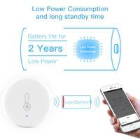 Smart Home Control Wifi Temperature And Humidity Sensor Wireless Remote APP Tuya ZigBee Indoor Detector Alarm System Electronics