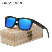 Gafas de sol Kingseven DISEÑO DE MARCA MANO Hecho a mano de bambú de madera de lujo masculino polarizado