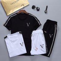 21SS Mode Designers Sweat-shirt Jogging Studik Hommes Pull Swewover Tracksuits Mens manches courtes Pantalons de Jogger Fashion Sweat Sweat Suites