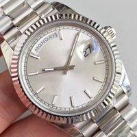 Nova venda quente 40mm relógio masculino varredura Movimento automático Máquina de movimento - data de aço inoxidável Sapphire Glass Watch WristWatch