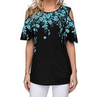 Women's T-Shirt Floral Print Short Tshirts Women O-Neck Fashion Shirt Big Size Clothing S-5XL Female Top Shirts