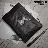 2021 Fashion Bag Folder Trend Versatile Handbag Envelope Men's New Clutch Original Design Cowhide Spfck