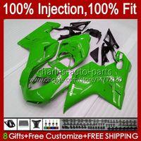Injection Bodys For DUCATI 1198R 848 1098 1198 S R 2007 2008 2009 2010 2011 2012 18No.60 Bodywork Green black 848S 1098S 1198S 848R 1098R 07 08 09 10 11 12 OEM Fairing Kit