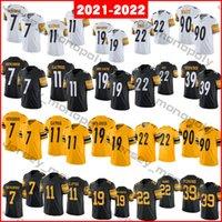 2021 22 Najee Harris 7 Ben Reethlisberger Футбол Джерси 90 T.J. Watt 19 Smith-Schuster 39 MINKAH FITZPATRICK 50 Shazier 55 Девин Буш