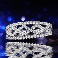 Trouwringen Verzilverd Sieraden Vinger Ring 925Mall Dame Prinses Cut Cubic Zircon Bands voor Vrouwen Unieke engagement