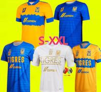 2021 TIGRES 축구 유니폼 홈 멀리 Pizarro 19 Salcedo 3 Lopez 11 Carioca 5 Aquino 20 Quinones 23 Vargas 9 20 21 Jersey Football Shirts