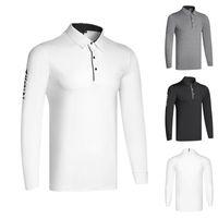 Camicia da golf Abbigliamento da uomo a maniche lunghe e traspirante camicia da polso sportiva sportiva T-shirt
