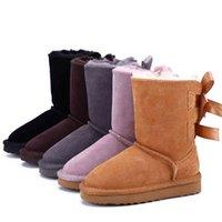 أطفال أحذية الثلوج الأطفال أستراليا bailey 2 الانحناء التمهيد الشتاء الدافئة الجلود الصغار الفتيان الفتيات بنات botas دي نيف أحذية طفل أحذية