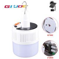 Lanternes portables LED Lanterne solaire Lumière 2 * 18650 Batterie Camping de tente suspendable de la télécommande intelligente