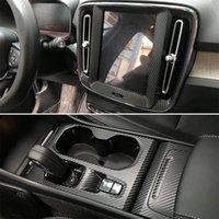 Car-style 3D 5D Carbon Fibre de carbone Centre d'intérieur Console Couleur Couleur Couleur Stickers Stickers pour Volvo XC40 2020-2021
