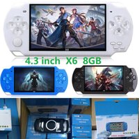 X6 Handheld Game Players 8GB Memory Portable Video Game Consoles 4.3 inch Support TF Card TV-OUT MP3 MP4 Player black white blue colors