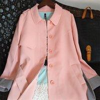 Women's Wool & Blends Women Trench Coat 2021 Autumn Winter Female Vintage Laides Outerwear Medium Length Belt Epaulet Fresh