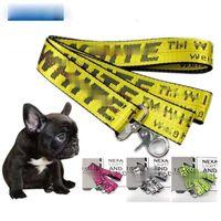 Мода Письмо Pet Lead Hears Heans Для собак Кошки Нейлон Ходьба собака Поводок на открытом воздухе Охрана Учебное жгут Собака 5 Цветов 160см
