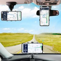 Cell Phone Mounts & Holders CASEIER Car Dashboard Clip Holder For Mobile Rotation Rear View Mirror Sun Visor Stands In Portable