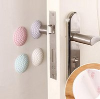 Fashion Door Catches 3cm 5cm Golf Modelling Rubber Fender Handle Door Lock Protective Pad Anti Collision Home Wall Stickers Mute DFF3186