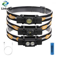 Headlamps 2021 Cree XM L2 LED Feadlight Feadlamp USB Carregando Branco Luz Lâmpada Lâmpada 18650 Bateria para Camping Hunting1