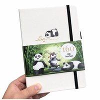 Buke Panda Bullet Planner Dot Grid Cuaderno Diario y dibujo Sketcbook - PU Cuero, 160gsm Papel grueso 210611