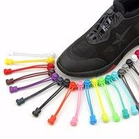 17 Couleurs 100cm Sneaker rond Sheeélaces Design créatif Elastic No Cravate Chaussure Lacets Sécurité Verrouillage des chaussures paresseuses en dentelle