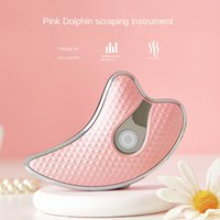 New Electric Beauty Scraping Instrument Dolphin Vibrators Pulling Micro Current Constant Temperature Heating Beauty Device Skin Care Tools