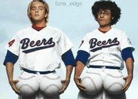 Cosido caliente la película de Baseketball Beers # 17 Doug Reme # 44 Joe cooper Cooper Baseketball Blanco Botón Baseteball Jerseys 999941