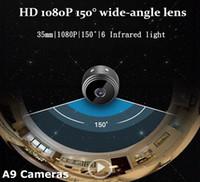 HD Kızılötesi Aerial DV Spy Video Kam WiFi IP Kablosuz Güvenlik Gizli Kameralar Kapalı A9 1080 P Gözetim Gece Görüş Kamerası