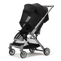 poussette de luxe bébé léger pliable assise pliable et inclinable à quatre roues amortisseur amortisseur élevé