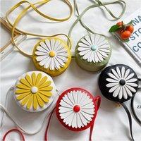 2021 Forme ronde Style de fleurs Mini Sac Enfants Belle Daisy Girls Messenger Sac Sac à dos Sac à bandoulière Sacs de monnaie HWe8122