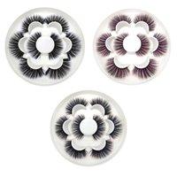 False Eyelashes 4 Pairs Natural Fashion Women 3D Imitation Mink Thick Long Makeup Eye Lashes
