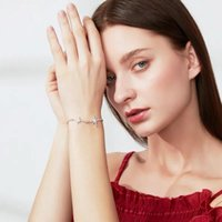 stars Popular S925 pure silver shell Star Bracelet push pull adjustable fashion personality trend high quality luxury women's Free ship