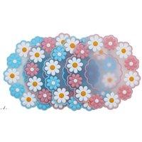 4 st / set coasters for drinks non-glish pvc kopp matta tablettskydd daisy blomma mönster värme isolering placemat dwb11175