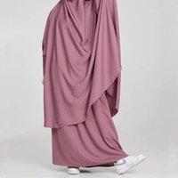 Vêtements ethniques Eid Musulman Femmes Hijab Vêtement de prière Vêtement Jilbab Abaya à capuche longue Khimar Ramadan Robe Jupe Abayas Ensembles Vêtements islamiques N
