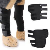 2pc chiens aide guérir des blessures blessures à l'arrière jambe blessé protécegguards bandages de genou pavé de genou support corporel compression arrière