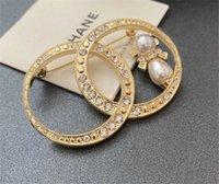 Accesorios de estilo caliente europeo Color de alto grado Inlaid Diamond Pearl Temperamento Lujo Broche Joker Atmósfera Joyería Corsage