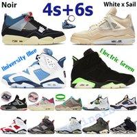 AJ 4 Air Jordanien 4S Männer Basketballschuhe Weiß X Segel gezüchtet Guave Ice Noir Oreo 6s Sneakers Electric Green UNC Universität Blau Black Cat Herren Sporttrainer