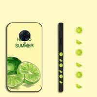 Side Lemon Pattern Painted Case For Vivo Nex S 3 5G X21i X21 UD X23 X27 X30 X50 Pro Plus X60 Green Letter TPU Back Cover