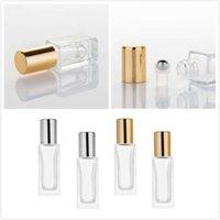 Bottiglia di profumo di vetro di vetro essenziale da 6 ml / 9ml con bottiglie di profumo glassato con rotoli su bottiglie contenitori cosmetici per viaggi