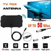 80 Miles 1080P Indoor Digital TV Antenna Signal Receiver Amplifier TV Radius Surf Fox Antena HDTV Antennas Aerial Mini DVB-T T2