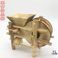 خشبي محاكاة وادي طاحونة الصغرى أدوات الزراعية غرامة الأثاث نموذج الحرف اليدوية الحلي لعبة مصنع