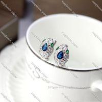 Earring Snake Shape Stud S925 Silver Plated Earrings For Women Lady Girl Party Gift Lovely Cute