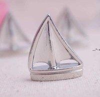 Newtheme Place Card Houders Sail Boat Silver Strand Tafel Nummer Kaarten Clips Picture Naam Frame Mini Kleine Bruiloft Supplies