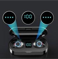 2021 أفضل الساخن سماعة لاسلكية بلوتوث v5.0 F9 tws سماعة مركبتي ستيريو سماعات الصمام عرض اللمس التحكم 2000mah قوة البنك مايكروفون