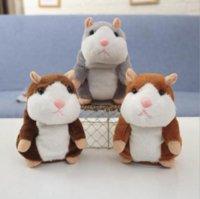 Talking Hamster Mouse PET PET PLUSH JUEGO LINDO HABLO SONIDO RECORDAR HANDSTER TABLER SERPENDIENTE RECORDO ROTO Relleno Peluche Animal Niños Juguete 200pcs