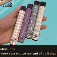 85Colors Miso Plus 일회용 vape 미리 채워진 포드 스틱 E 담배 장치 800 퍼프 포드 키트 업그레이드 550mAh 배터리 증기 펜 vs 퍼프 바