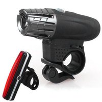 Bike Lights Ourdoor Cycling Bicycle Accessory Rechargeable Waterproof USB Charge Light Handlebar Set