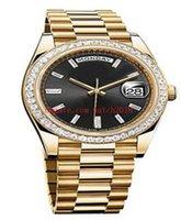 Boîte d'origine Montres Hommes 40mm 228348 Mécanique Automatique Bezel Diamant Bezel Diamant Bracelet en acier inoxydable de luxe Bracelet de la mode de la mode de luxe