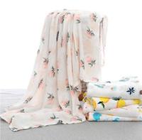 بطانية الطفل المطبوعة حمام منشفة مزدوجة الطبقات الشاش مجمع الكرتون الوليد حمام منشفة الطفل عربة يغطي hwe4853